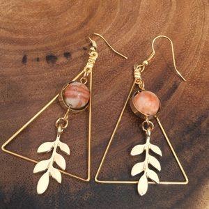 Jewelry - Fashion Dangle Triangle Leaf Earrings New
